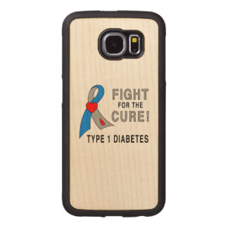 Type 1 Diabetes Fight for the Cure Wood Phone Case