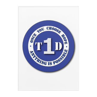 Type 1 Diabetes Shield Wall Art