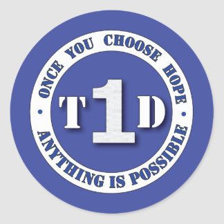 Type 1 Diabetes Super Hero Shield Sticker