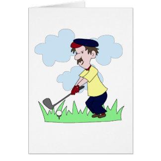 Type de golfeur cartes de vœux