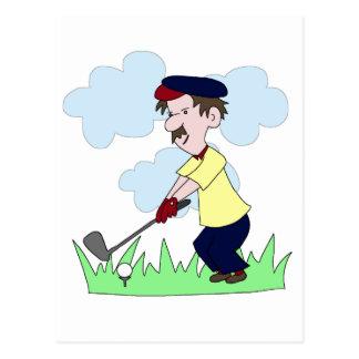 Type de golfeur carte postale