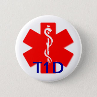 Type one diabetes medical alert pin