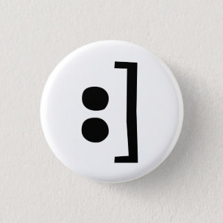 type smile 1 inch round button