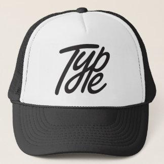 type trucker hat