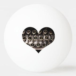 Typed Heart Ping Pong Ball