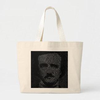 TypeFace - Edgar Allan Poe Large Tote Bag