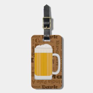 Types of Beer Series Print 1 Luggage Tag