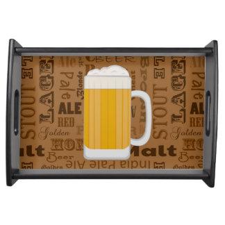 Types of Beer Series Print 1 Serving Platter