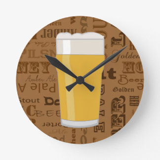 Types of Beer Series Print 2 Wallclocks