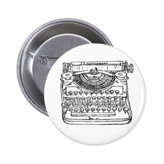 Typewriter 2 Inch Round Button