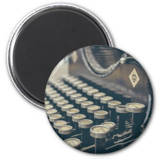 Typewriter 2 Inch Round Magnet