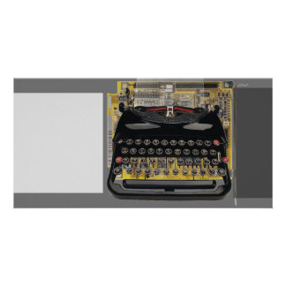 Typewriter Abstract Custom Photo Card