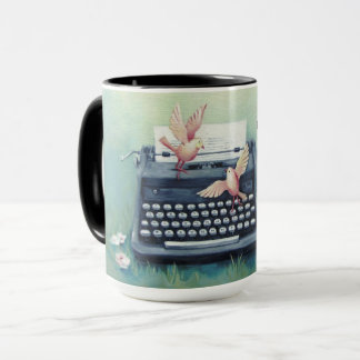 """Typewriter & Birds """"Got This"""" Mug"""
