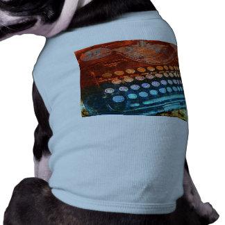 Typewriter Blue Red PopArt Doggie T-shirt
