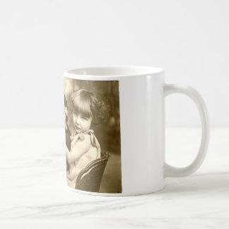 Typewriter girl coffee mug