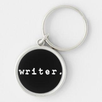 typewriter key style keychain - writer. typewriter