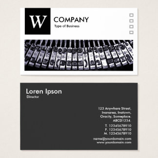 Typewriter - Logo and Panel v2 - Black Business Card