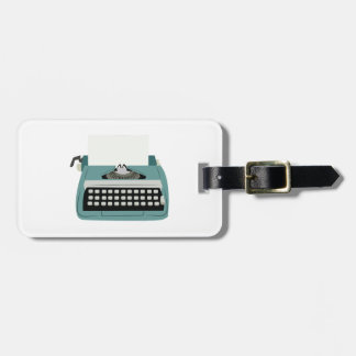 Typewriter Luggage Tag
