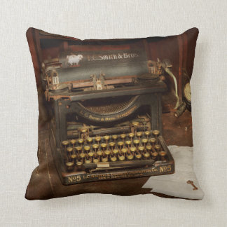 Typewriter - My bosses office Throw Pillow