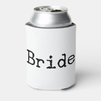 typewriter old fashioned bride bridal can cooler