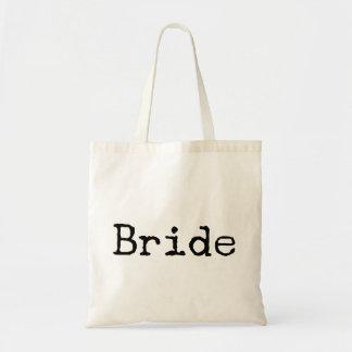 typewriter old fashioned bride bridal tote bag