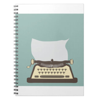 Typewriter Spiral Note Book