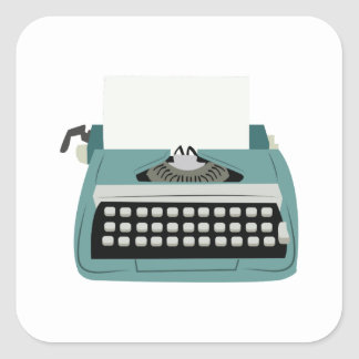 Typewriter Square Sticker