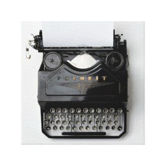 Typewriter Wrap-Around Canvas