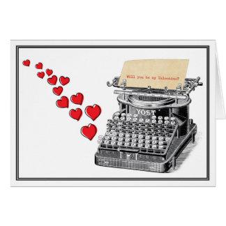 Typewritten Valentine Card