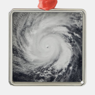 Typhoon Faxai in the western Pacific Ocean Silver-Colored Square Ornament