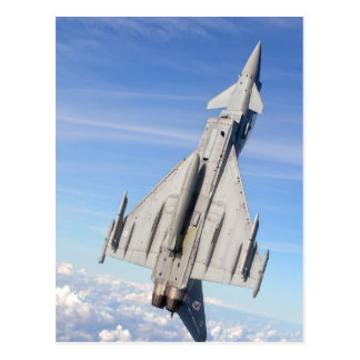 Typhoon Fighter Jet Postcard