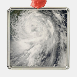 Typhoon Fung-wong Silver-Colored Square Ornament