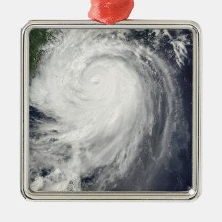 Typhoon Jangmi Silver-Colored Square Ornament