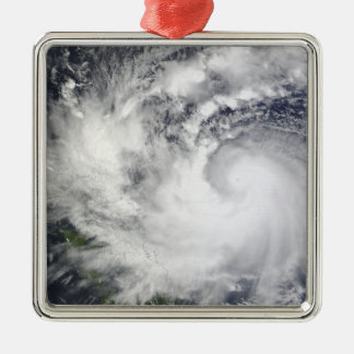 Typhoon Parma 2 Silver-Colored Square Ornament