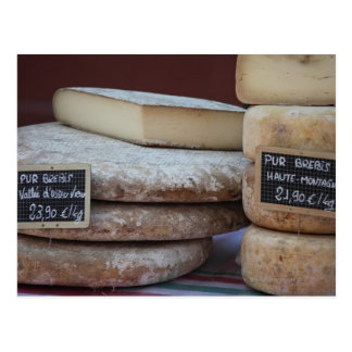 typical cheeses of pyrenees postcard
