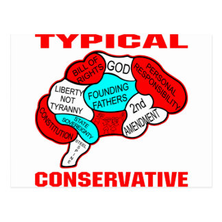 Typical Conservative Brain Postcard