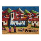 Typical Ecuador Otavalo Tapestry Postcard
