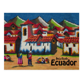 Typical Ecuador Otavalo Tapestry Postcard