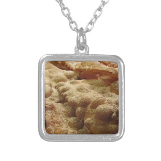 Typical italian carnival sweets silver plated necklace