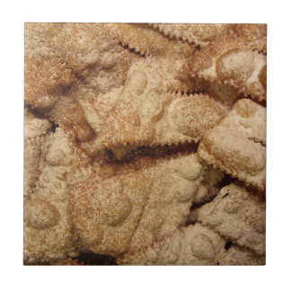 Typical italian carnival sweets tile
