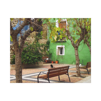 Typical place in a Spanish town Canvas Print