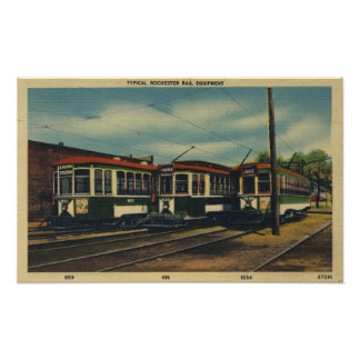 Typical Rochester Rail Equipment Poster