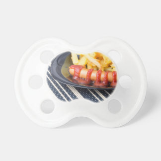 Typical Russian dish - fried potatoes and sausage Baby Pacifier