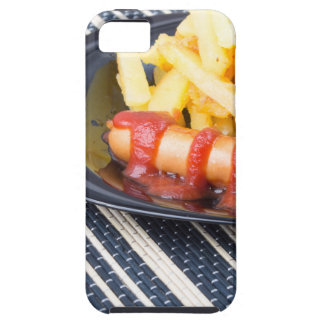 Typical Russian dish - fried potatoes and sausage iPhone 5 Cases