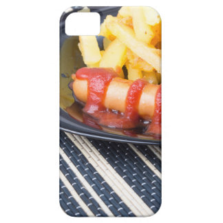 Typical Russian dish - fried potatoes and sausage iPhone 5 Covers