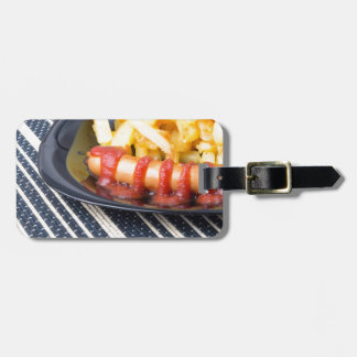 Typical Russian dish - fried potatoes and sausage Luggage Tag
