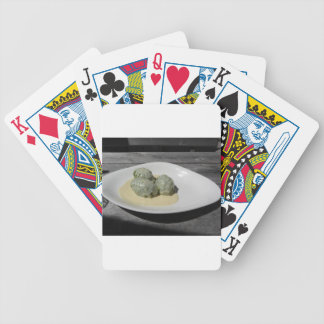 Typical South Tyrolean dish of canederli pasta Bicycle Playing Cards