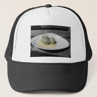 Typical South Tyrolean dish of canederli pasta Trucker Hat