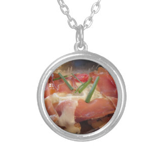 Typical South Tyrolean dish served pan fried Silver Plated Necklace