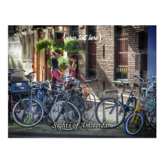 Typical Street Scene, Sights of Amsterdam Postcard